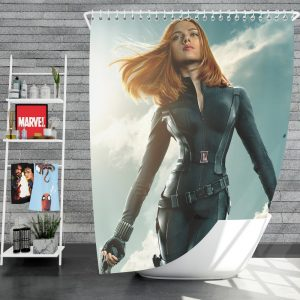 Captain America The Winter Soldier Movie Avengers Black Widow Scarlett Johansson Shower Curtain