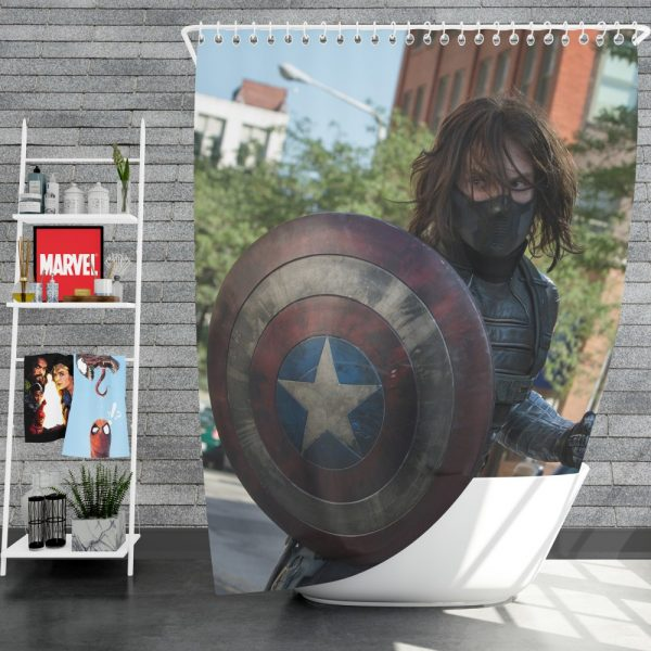 Captain America The Winter Soldier Movie Shower Curtain