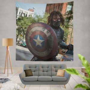 Captain America The Winter Soldier Movie Wall Hanging Tapestry