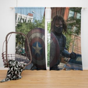 Captain America The Winter Soldier Movie Window Curtain