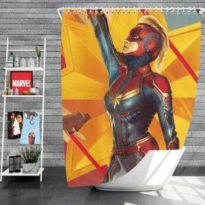 Captain Marvel Movie Brie Larson Avenger Shower Curtain