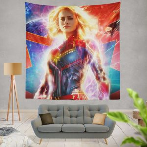 Captain Marvel Movie Brie Larson MCU Wall Hanging Tapestry