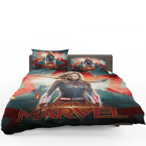 Captain Marvel Movie Brie Larson Marvel Cinematic Universe Bedding Set 1
