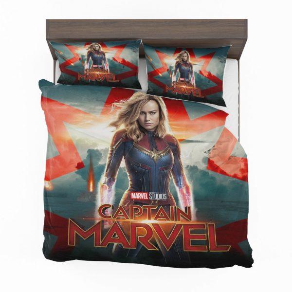Captain Marvel Movie Brie Larson Marvel Cinematic Universe Bedding Set 2