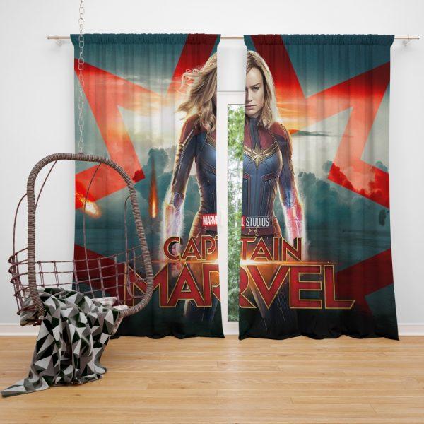 Captain Marvel Movie Brie Larson Marvel Cinematic Universe Window Curtain