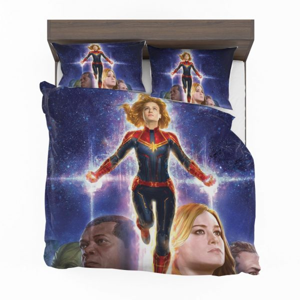 Captain Marvel Movie Brie Larson SHIELD Bedding Set 2