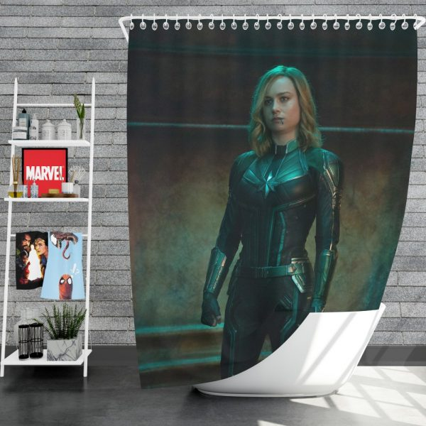 Captain Marvel Movie Brie Larson Shower Curtain