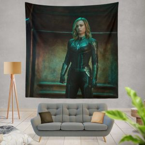 Captain Marvel Movie Brie Larson Wall Hanging Tapestry