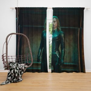 Captain Marvel Movie Brie Larson Window Curtain