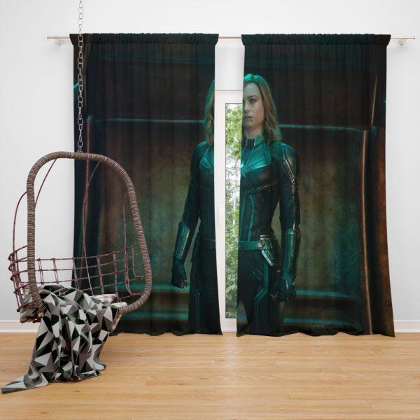 Captain Marvel Movie Brie Larson Window Curtain
