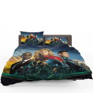 Captain Marvel Movie Carol Danvers Nick Fury Yon‑Rogg Marvel Bedding Set 1