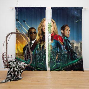Captain Marvel Movie Carol Danvers Nick Fury Yon‑Rogg Marvel Window Curtain