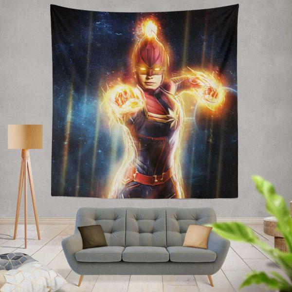 Captain Marvel Movie Carol Danvers Super Women Wall Hanging Tapestry