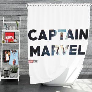Captain Marvel Movie Shower Curtain
