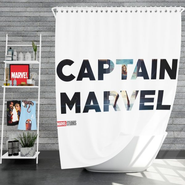 Captain Marvel Movie Shower Curtain