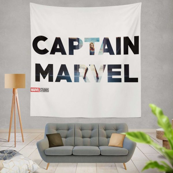 Captain Marvel Movie Wall Hanging Tapestry
