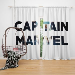 Captain Marvel Movie Window Curtain