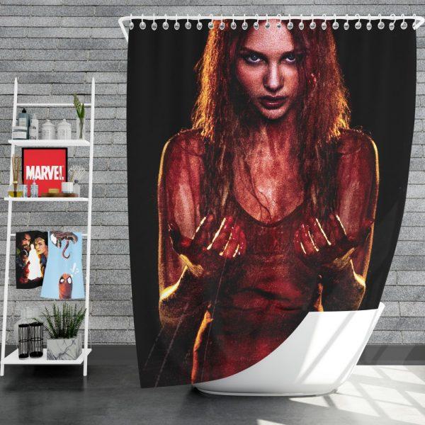 Carrie White in Carrie Movie Chloe Grace Moretz Shower Curtain