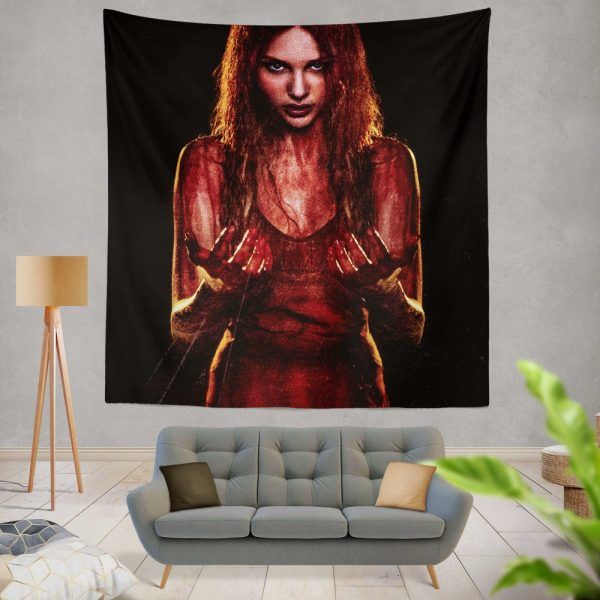Carrie White in Carrie Movie Chloe Grace Moretz Wall Hanging Tapestry