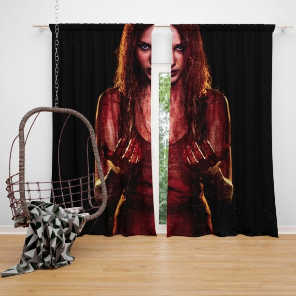 Carrie White in Carrie Movie Chloe Grace Moretz Window Curtain