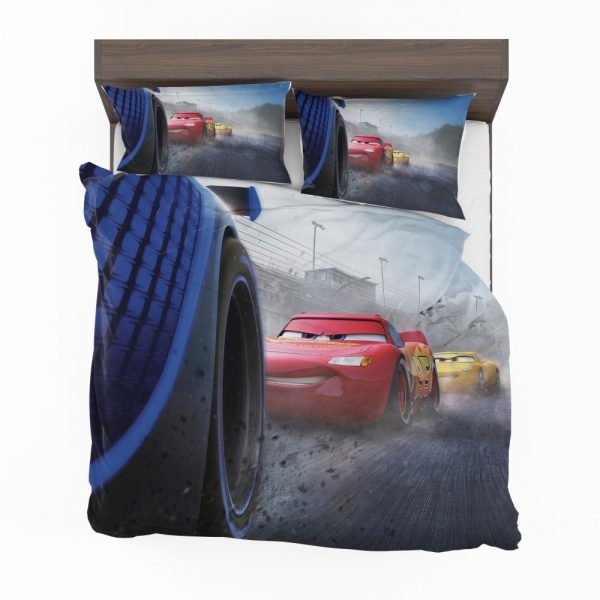Cars 3 Movie Cruz Ramirez Jackson Storm Lightning McQueen Bedding Set 2