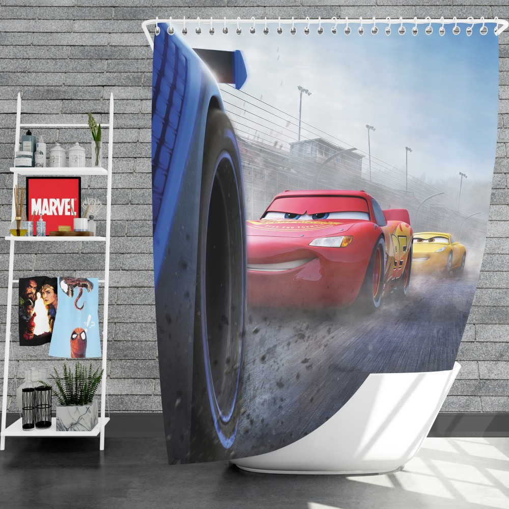 Cars 3 Movie Cruz Ramirez Jackson Storm Lightning Mcqueen Shower