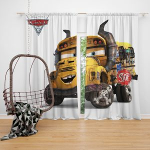Cars 3 Movie Window Curtain
