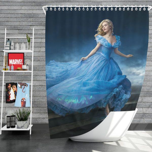 Cinderella Movie Lily James Shower Curtain