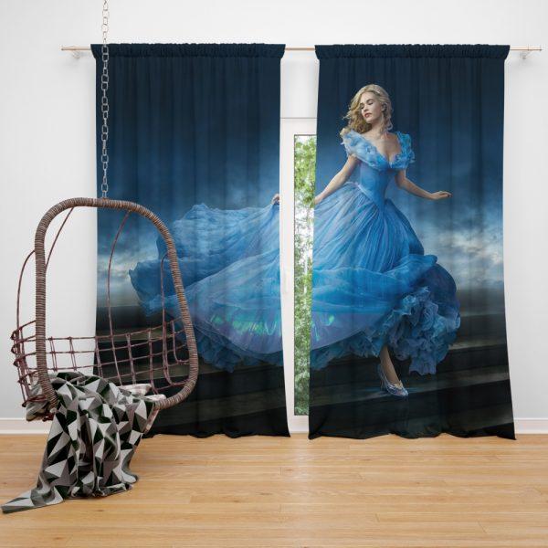 Cinderella Movie Lily James Window Curtain