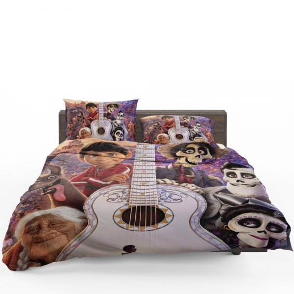 Coco Movie Dante Day of the Dead Ernesto de la Cruz Guitar Bedding Set 1