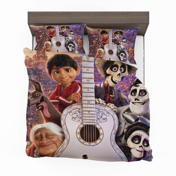 Coco Movie Dante Day of the Dead Ernesto de la Cruz Guitar Bedding Set 2