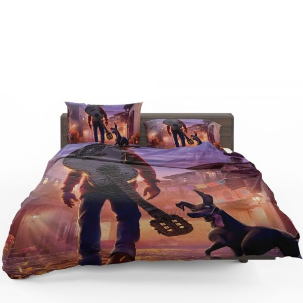 Coco Movie Dante Guitar Miguel Rivera Bedding Set 1