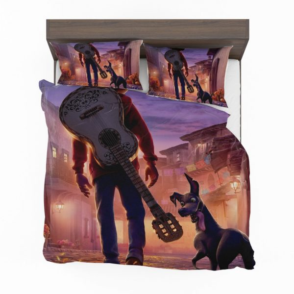 Coco Movie Dante Guitar Miguel Rivera Bedding Set 2