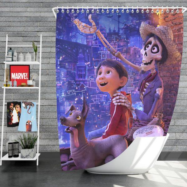 Coco Movie Dante Hector Miguel Rivera Shower Curtain