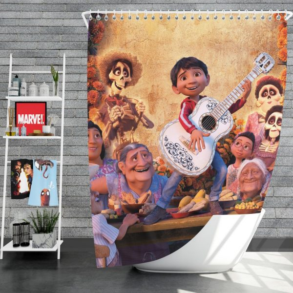 Coco Movie Fantasy Shower Curtain