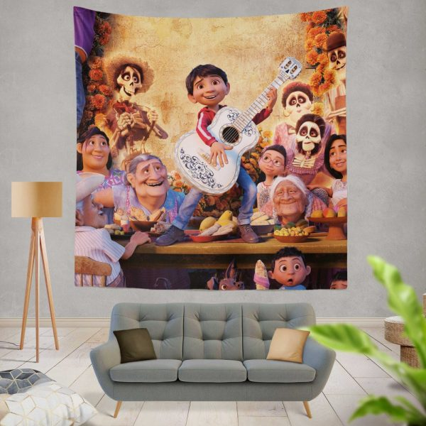 Coco Movie Fantasy Wall Hanging Tapestry