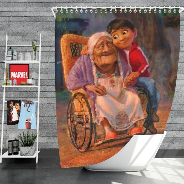 Coco Movie Mystery Kids Shower Curtain