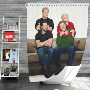 Daddy's Home 2 Movie John Lithgow Mark Wahlberg Mel Gibson Will Ferrell Shower Curtain