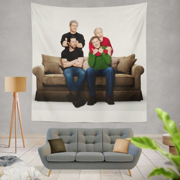 Daddy's Home 2 Movie John Lithgow Mark Wahlberg Mel Gibson Will Ferrell Wall Hanging Tapestry