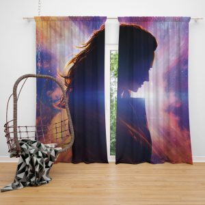 Dark Phoenix Movie Jean Grey Marvel Comics Window Curtain