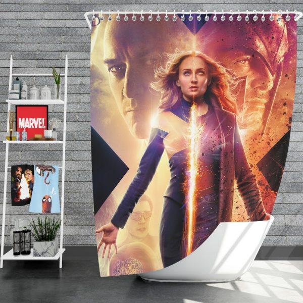 Dark Phoenix Movie Sophie Turner X-Men Shower Curtain