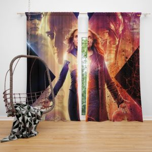 Dark Phoenix Movie Sophie Turner X-Men Window Curtain