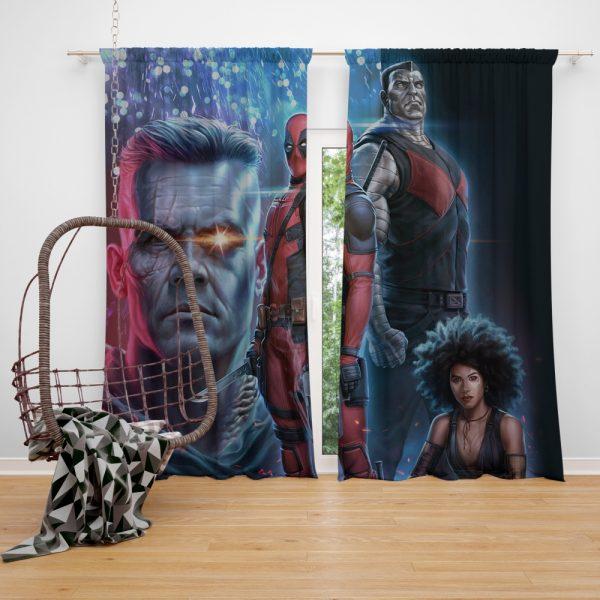 Deadpool 2 Movie Cable Domino Window Curtain