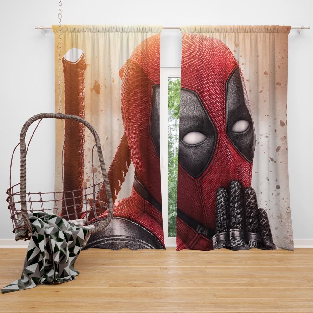 Deadpool 2 Movie Marvel Window Curtain Ebeddingsets