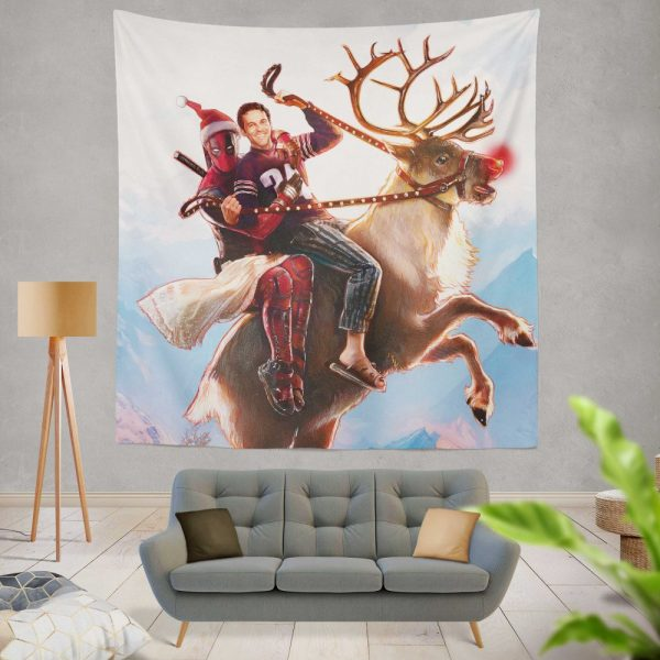 Deadpool 2 Movie Once Upon A Deadpool Wall Hanging Tapestry