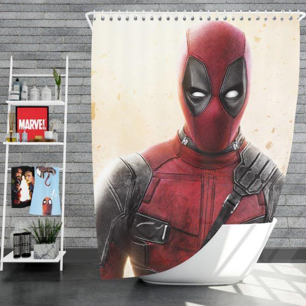 Deadpool 2 Movie Super Hero Shower Curtain