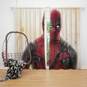 Deadpool 2 Movie Super Hero Window Curtain