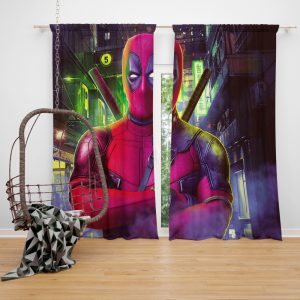 Deadpool 2 Movie Wade Wilson Window Curtain
