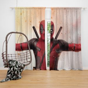 Deadpool 2 Movie Window Curtain