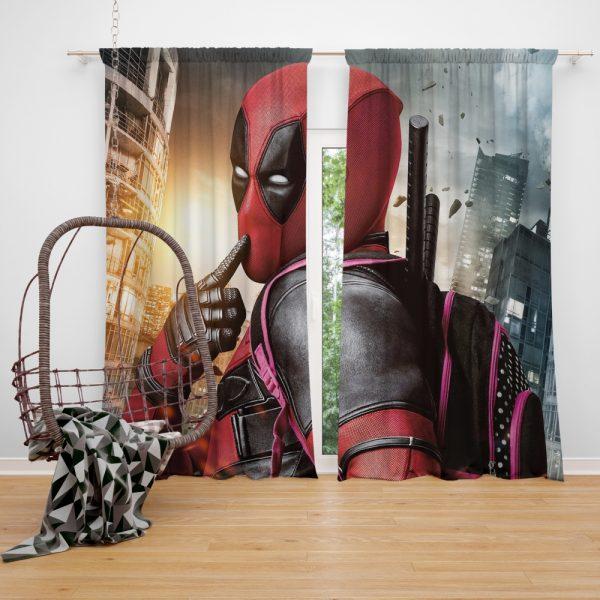 Deadpool Movie Window Curtain